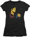 Elvis Presley juniors t-shirt Neon Elvis black