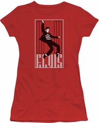 Elvis Presley juniors t-shirt One Jailhouse red