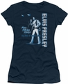 Elvis Presley juniors t-shirt One Night Only navy