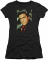 Elvis Presley juniors t-shirt Red Scarf black