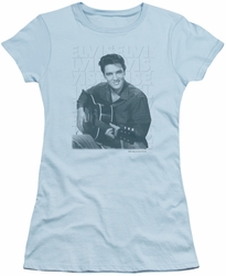 Elvis Presley juniors t-shirt Repeat light blue