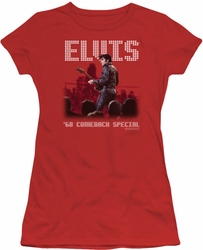 Elvis Presley juniors t-shirt Return Of The King red