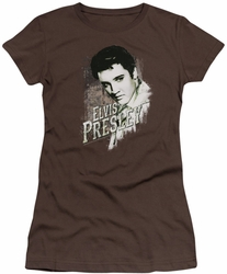 Elvis Presley juniors t-shirt Rugged Elvis coffee