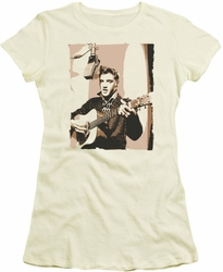 Elvis Presley juniors t-shirt Sepia Studio cream