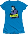 Elvis Presley juniors t-shirt Sitting turquoise