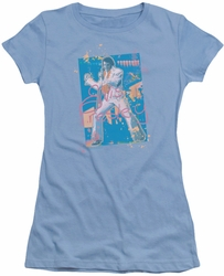 Elvis Presley juniors t-shirt Splatter Hawaii light blue