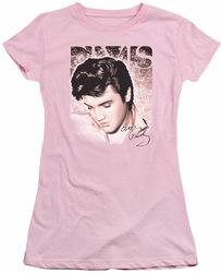 Elvis Presley juniors t-shirt Star Light pink