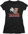 Elvis Presley juniors t-shirt Trouble black