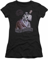 Elvis Presley juniors t-shirt Violet Vegas black