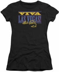 Elvis Presley juniors t-shirt Viva Las Vegas black