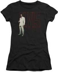 Elvis Presley juniors t-shirt White Suit black
