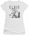 Elvis Presley juniors t-shirt With The Band white
