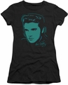 Elvis Presley juniors t-shirt Young Dots black