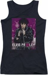 Elvis Presley juniors tank top 35 Leather black