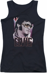 Elvis Presley juniors tank top 70'S Star black