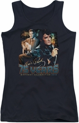 Elvis Presley juniors tank top 75 Years black