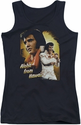 Elvis Presley juniors tank top Aloha black