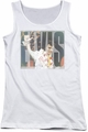 Elvis Presley juniors tank top Aloha Knockout white