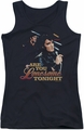 Elvis Presley juniors tank top Are You Lonesome black