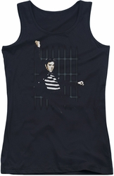 Elvis Presley juniors tank top Blue Bars black