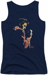 Elvis Presley juniors tank top Early Elvis navy
