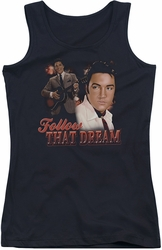 Elvis Presley juniors tank top Follow That Dream black