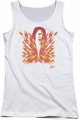 Elvis Presley juniors tank top His Latest Flame white