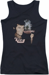 Elvis Presley juniors tank top Home Sweet Home black