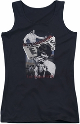 Elvis Presley juniors tank top International Hotel black