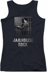 Elvis Presley juniors tank top Jailhouse Rock black