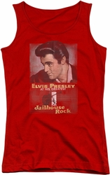 Elvis Presley juniors tank top Jailhouse Rock Poster red