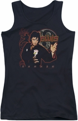 Elvis Presley juniors tank top Karate black
