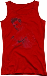 Elvis Presley juniors tank top On The Range red