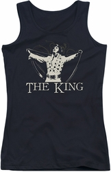 Elvis Presley juniors tank top Ornate King black