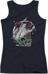 Elvis Presley juniors tank top Still Rockin black