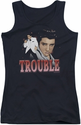Elvis Presley juniors tank top Trouble black