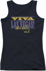 Elvis Presley juniors tank top Viva Las Vegas black