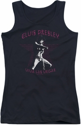 Elvis Presley juniors tank top Viva Las Vegas Star black