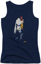 Elvis Presley juniors tank top Yellow Scarf navy
