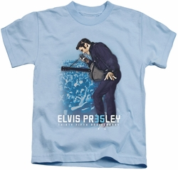 Elvis Presley kids t-shirt 35th Anniversary 3 light blue