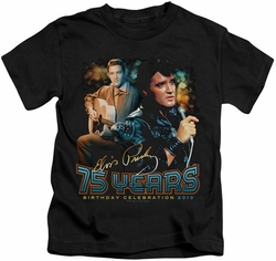 Elvis Presley kids t-shirt 75 Years black