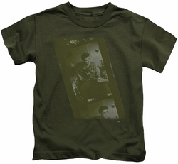 Elvis Presley kids t-shirt Army military green