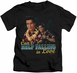 Elvis Presley kids t-shirt Can't Help Falling black