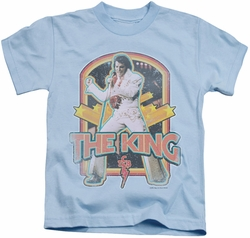 Elvis Presley kids t-shirt Distressed King light blue