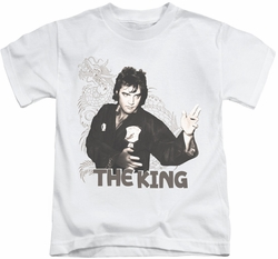 Elvis Presley kids t-shirt Fighting King white