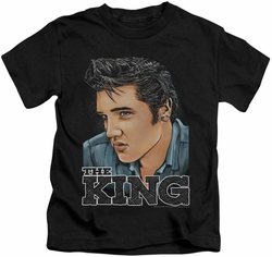 Elvis Presley kids t-shirt Graphic King black