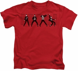 Elvis Presley kids t-shirt Jailhouse Rock red