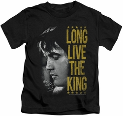 Elvis Presley kids t-shirt Long Live The King black