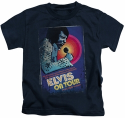 Elvis Presley kids t-shirt On Tour Poster navy