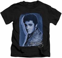 Elvis Presley kids t-shirt Overlay black